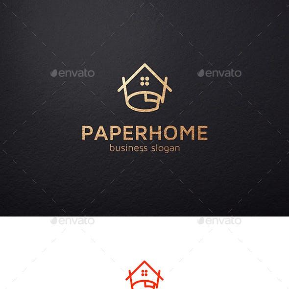 Paper Home Building Logo