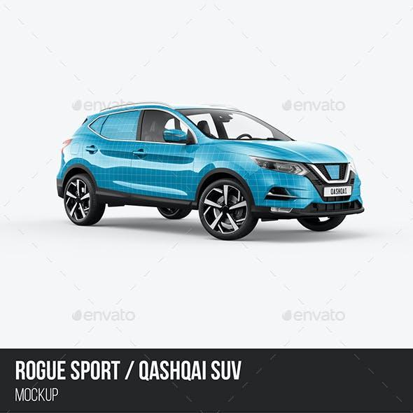 Qashqai/Rogue Sport SUV Mockup