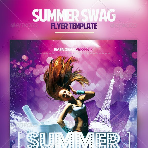 Summer Swag Flyer Template