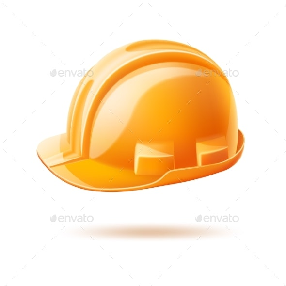 Vector Realistic Hard Hat - Man-made Objects Objects