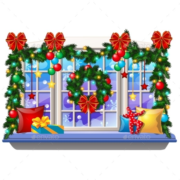 Cozy Interior Home Window with Decorations - Christmas Seasons/Holidays