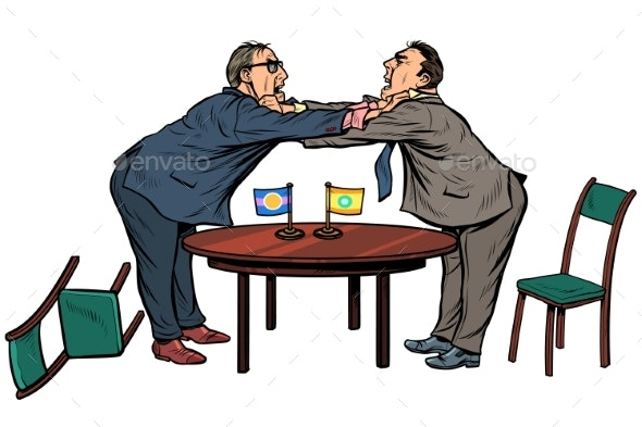 Policy Diplomacy and Negotiations Fight Opponents - Concepts Business