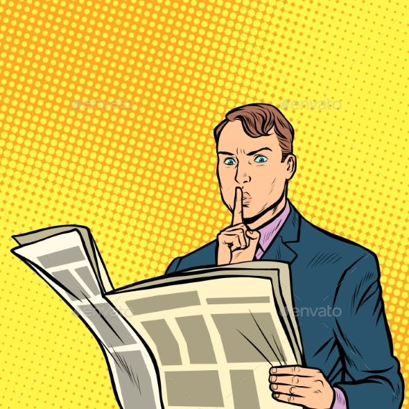 Media Censorship Man Reading a Newspaper
