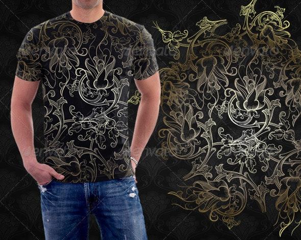 Floral Arabesque Tshirt - Grunge Designs