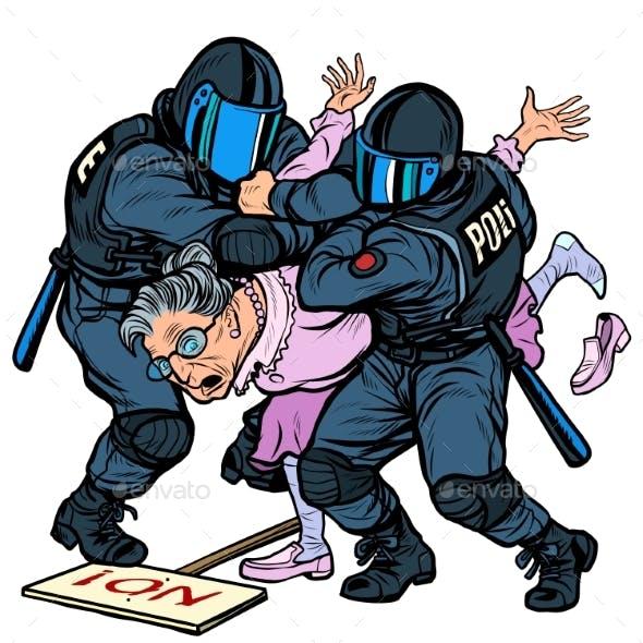 Police Arrest of a Protesting Pensioner