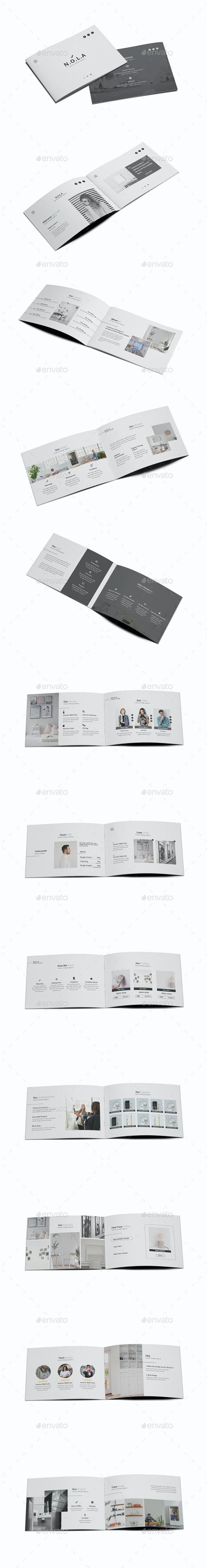 Nola Interior Design A5 Brochure - Brochures Print Templates