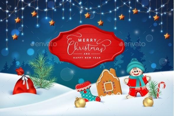 Christmas Winter Scene - Christmas Seasons/Holidays