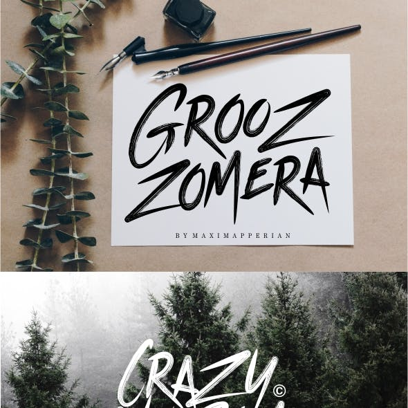 Grooz Zomera Brush Font
