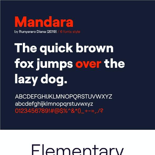 Mandara Sans Serif Font