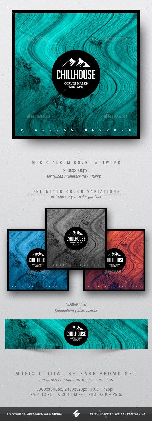 Chillhouse - Music Album Cover Artwork Template - Miscellaneous Social Media