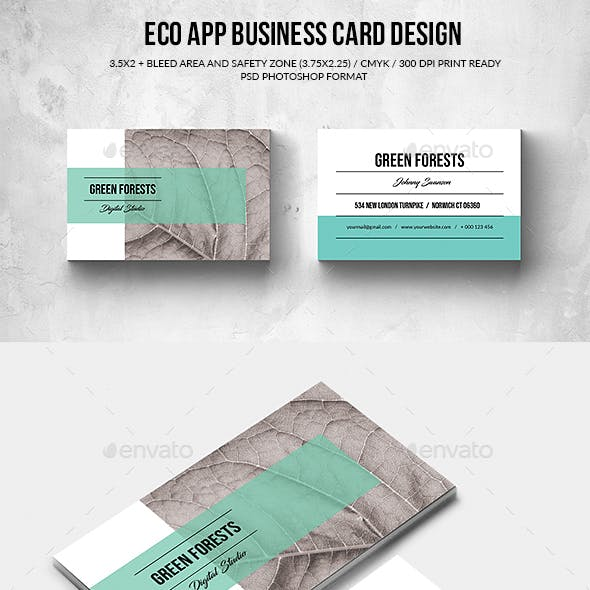 Eco App Business Card
