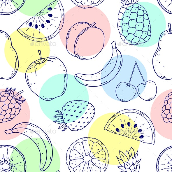 Pattern with Fruits - Food Objects