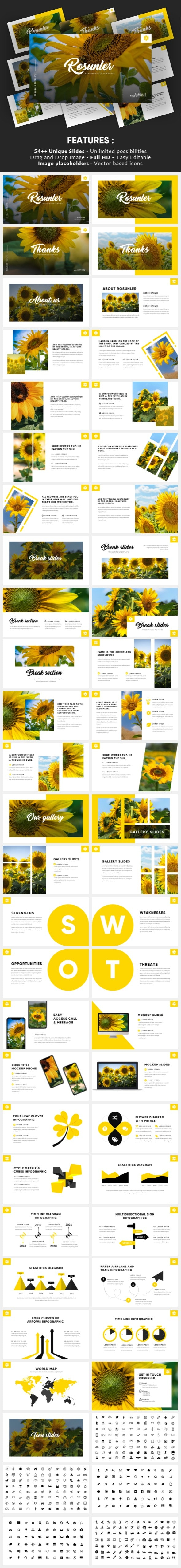 Rosunler - Minimalism Tropical Powerpoint Template - Miscellaneous PowerPoint Templates