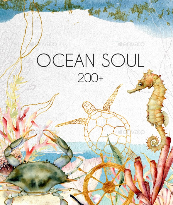 Ocean Soul. Graphic Collection - Illustrations Graphics