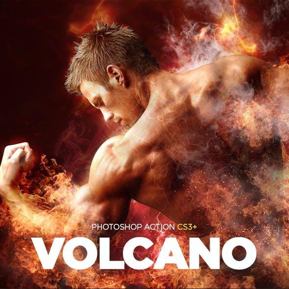 Volcano CS3+ Photoshop Action