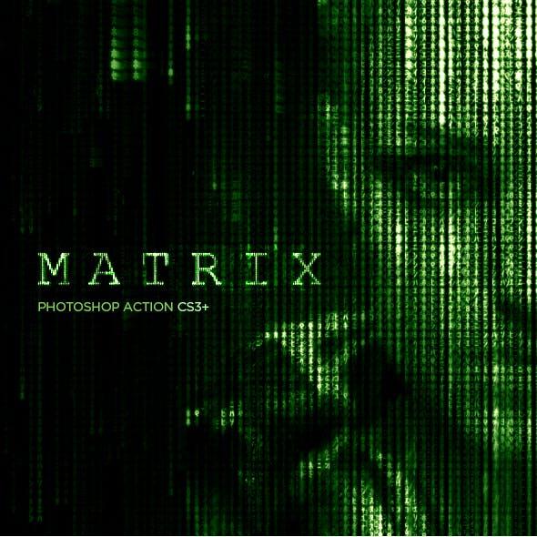 Matrix Code CS3+ Photoshop Action