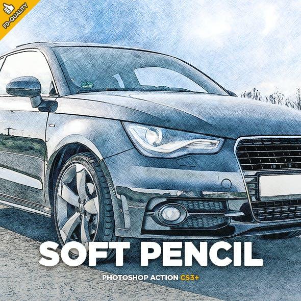 Soft Pencil Sketch Photoshop Action CS3+