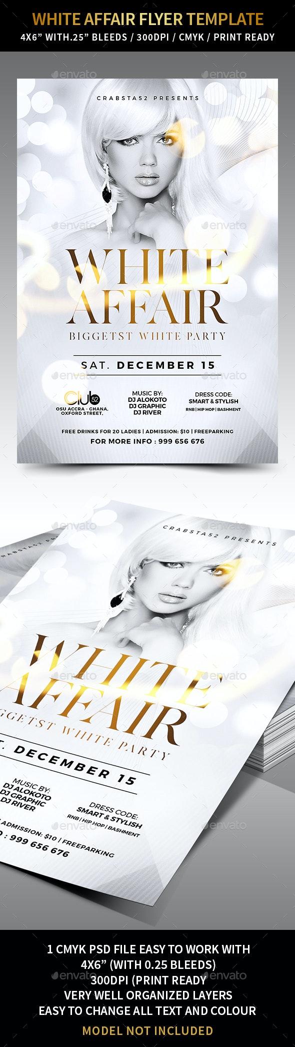 White Affair Flyer Template - Flyers Print Templates
