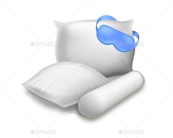 Blank Square Cylinder and Rectangular Pillows - Miscellaneous Vectors