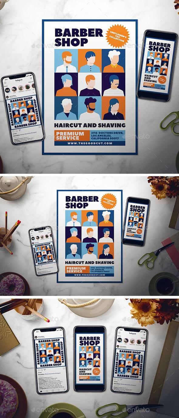 Barbershop Flyer Set - Flyers Print Templates