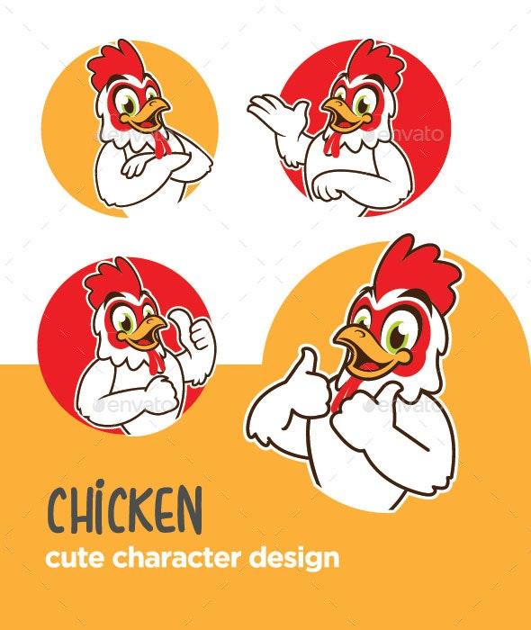 Chicken Mascot Design - Animals Characters