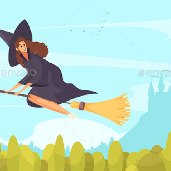Fairy Tale Witch Background