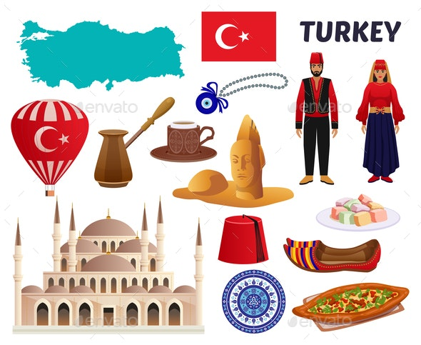 Turkey Culture Travel Set - Food Objects
