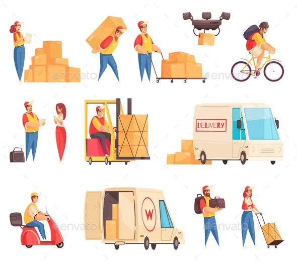 Delivery Company Icon Set - Miscellaneous Vectors