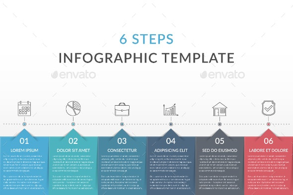 6 Steps - Infographic Template - Infographics