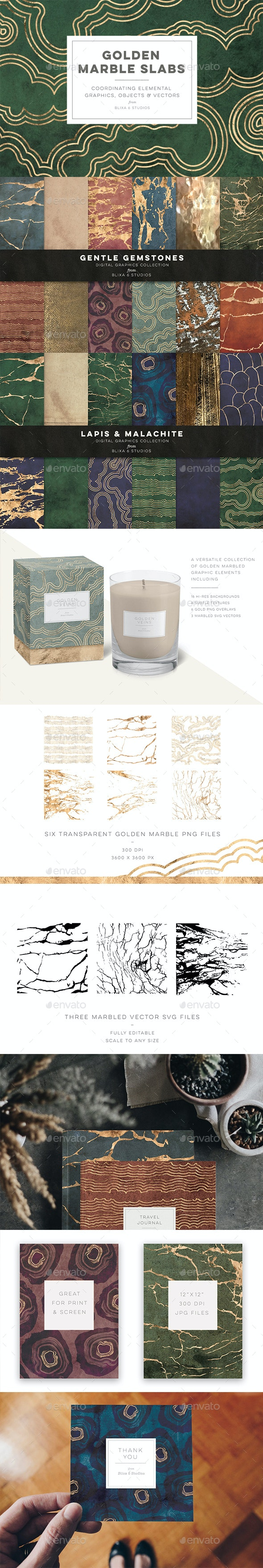 Golden Marble Slabs - Nature Backgrounds