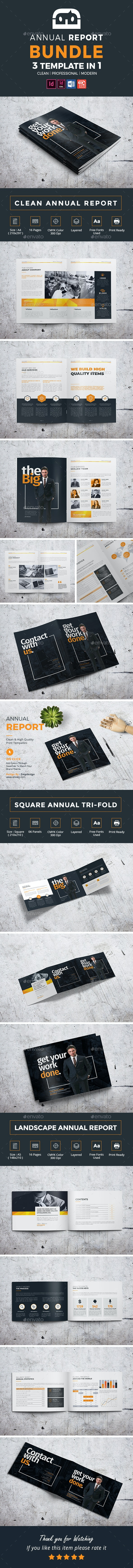 Clean Annual Report Bundle - Corporate Brochures