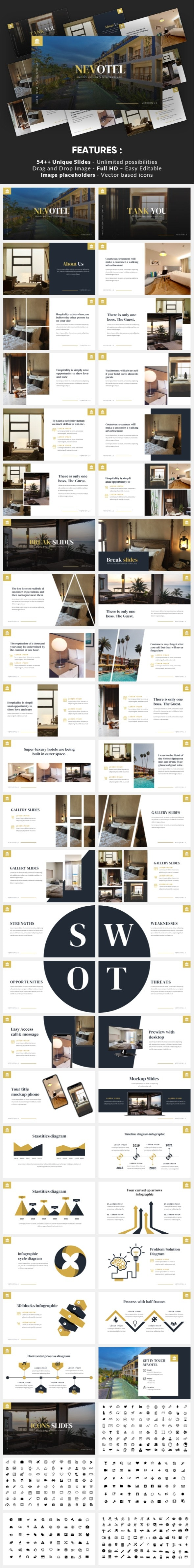 Nevotel - Luxury Hotel Powerpoint Template - Business PowerPoint Templates