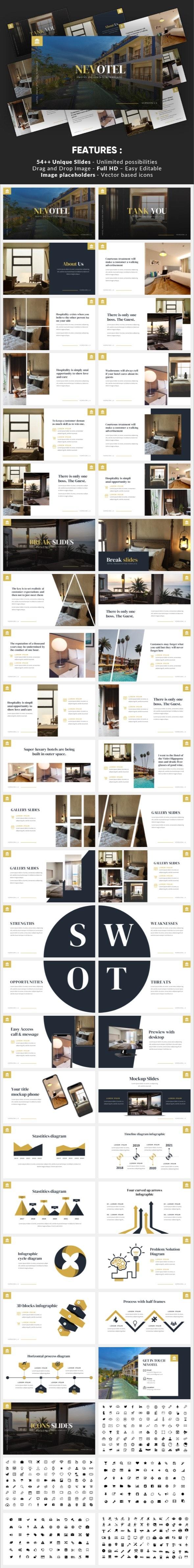 Nevotel - Luxury Hotel Keynote Template - Business Keynote Templates