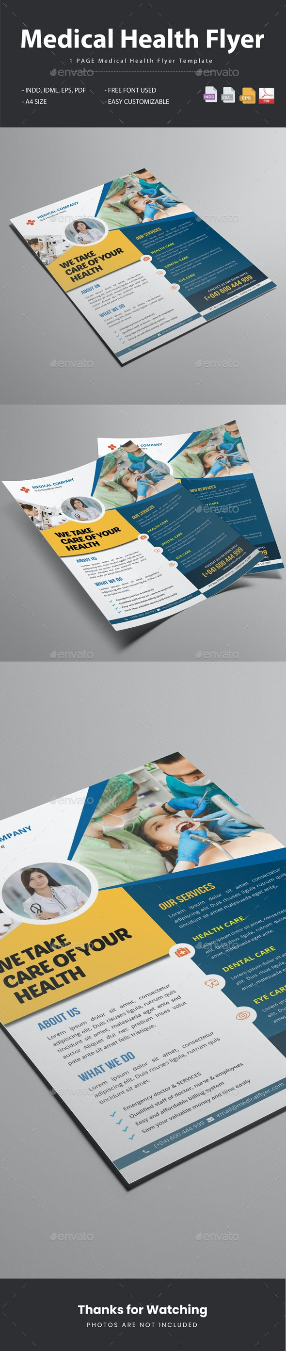 Medical Health Flyer Template - Flyers Print Templates