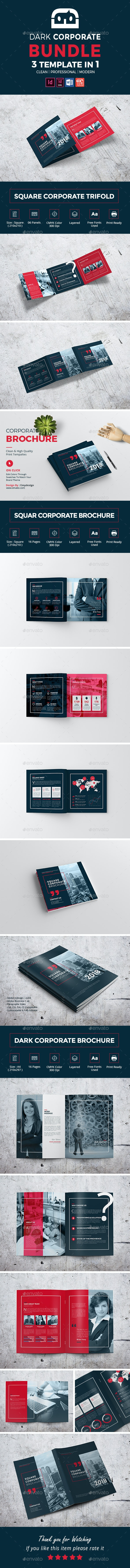 Dark Corporate Brochure Bundle - Corporate Brochures