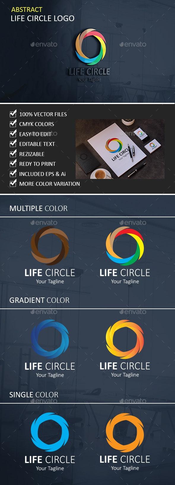 Life Circle Logo - Vector Abstract