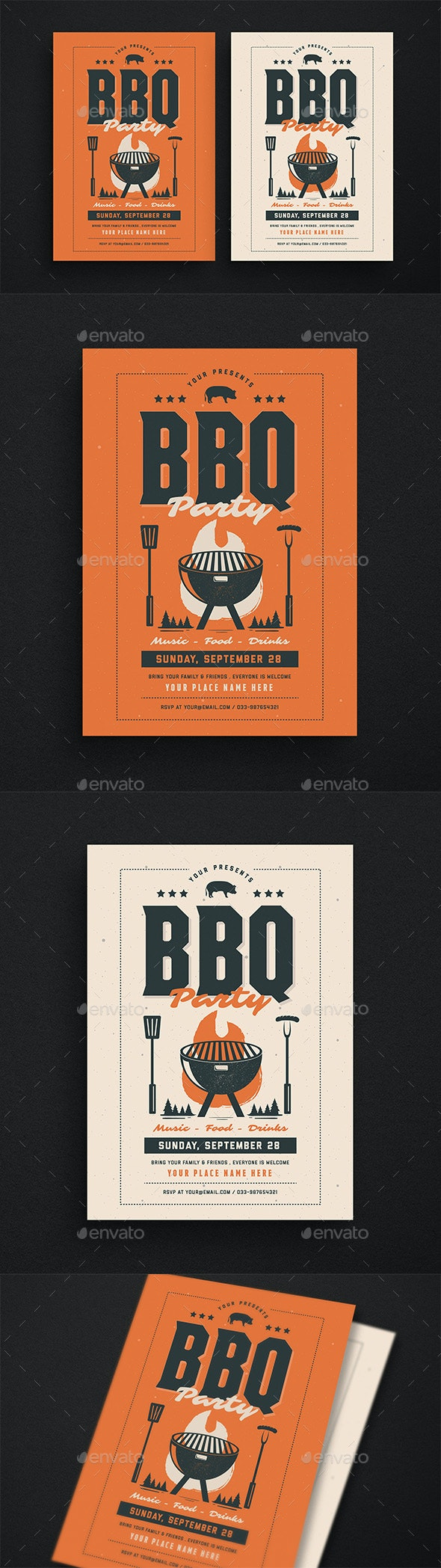 BBQ Event Party Flyer - Events Flyers
