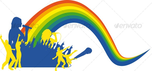 Singing Rainbow - Decorative Vectors