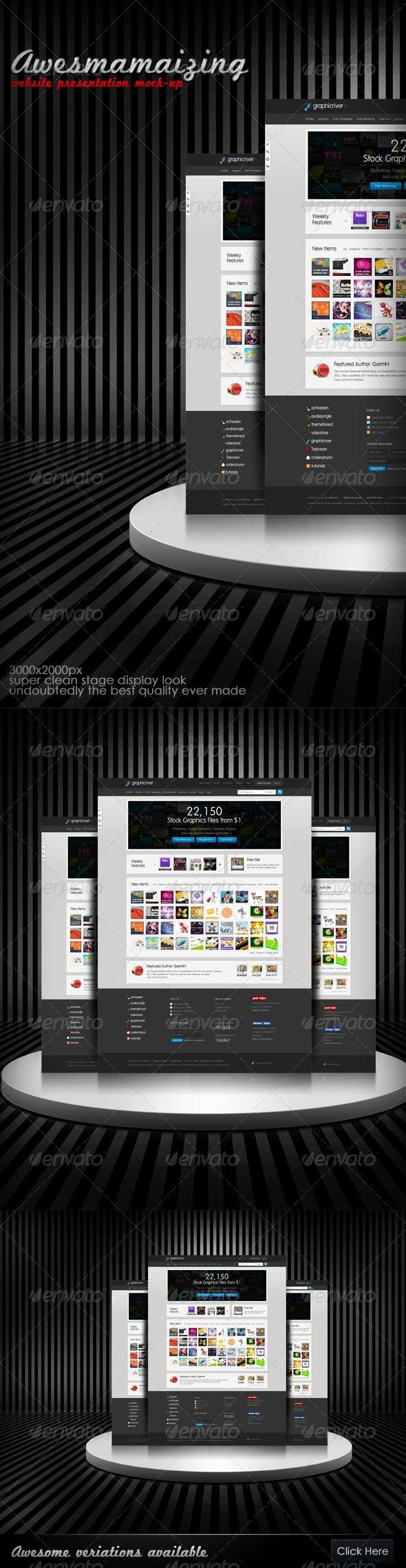 Awesmamaizing Web Presentation (Mock-up) - Website Displays