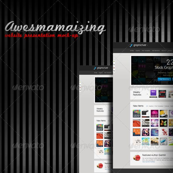 Awesmamaizing Web Presentation (Mock-up)