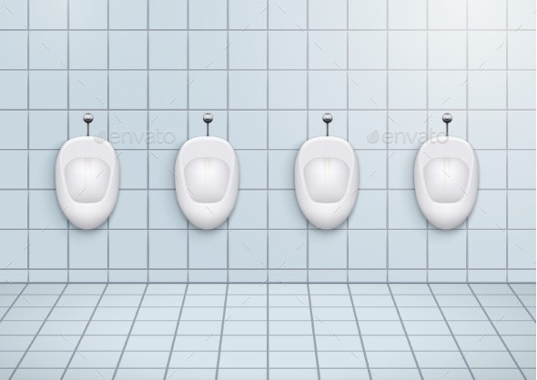 Restroom with Urinals - Man-made Objects Objects