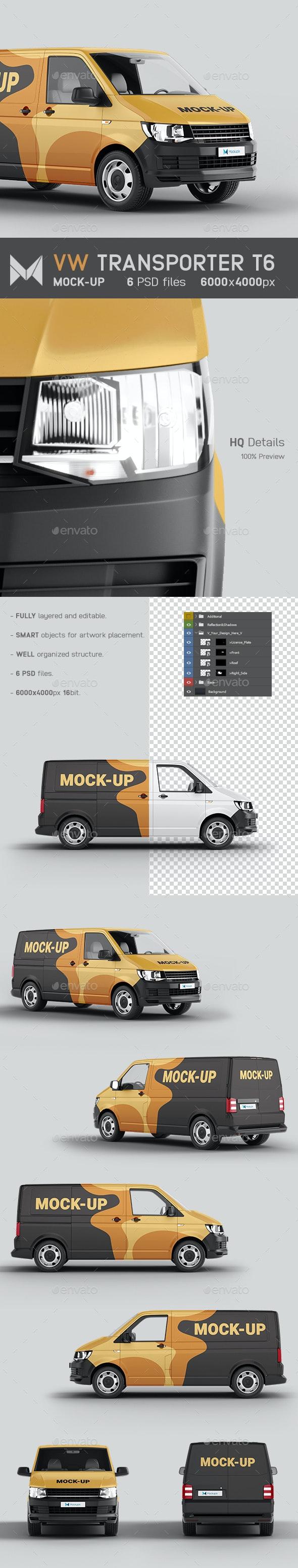 VW T6 Van Transporter Mockup - Vehicle Wraps Print
