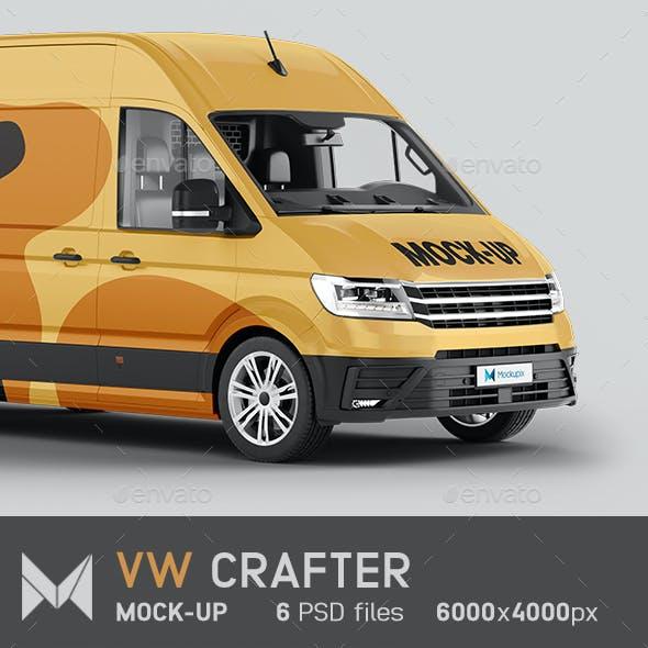 VW Crafter Van Mockup