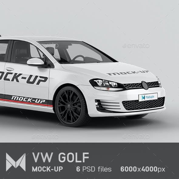 VW Golf Car Mockup