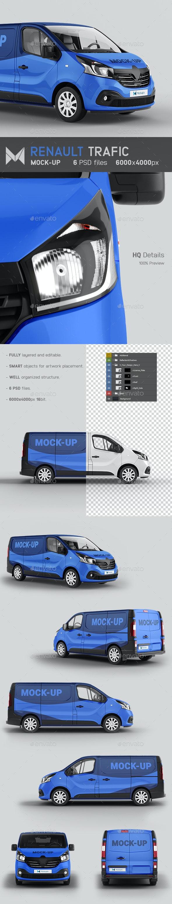 Renault Trafic Van Mockup - Vehicle Wraps Print