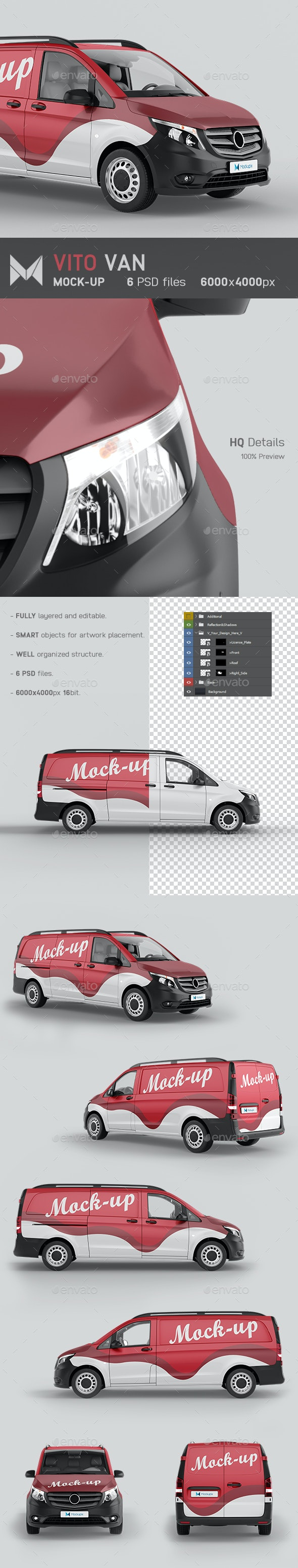 Vito Van 2019 Mockup - Vehicle Wraps Print