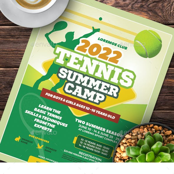 Tennis Camp Flyer Templates