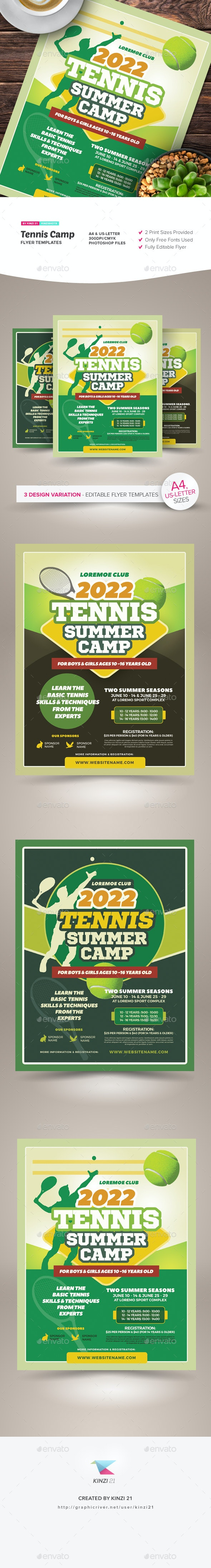 Tennis Camp Flyer Templates - Sports Events