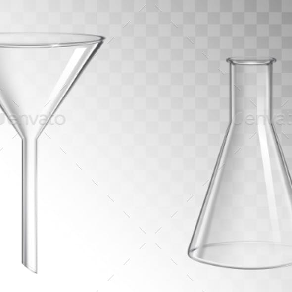 Glass Funnel and Flask
