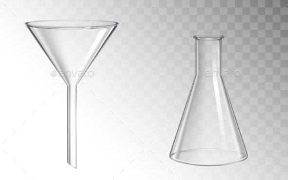 Glass Funnel and Flask - Man-made Objects Objects
